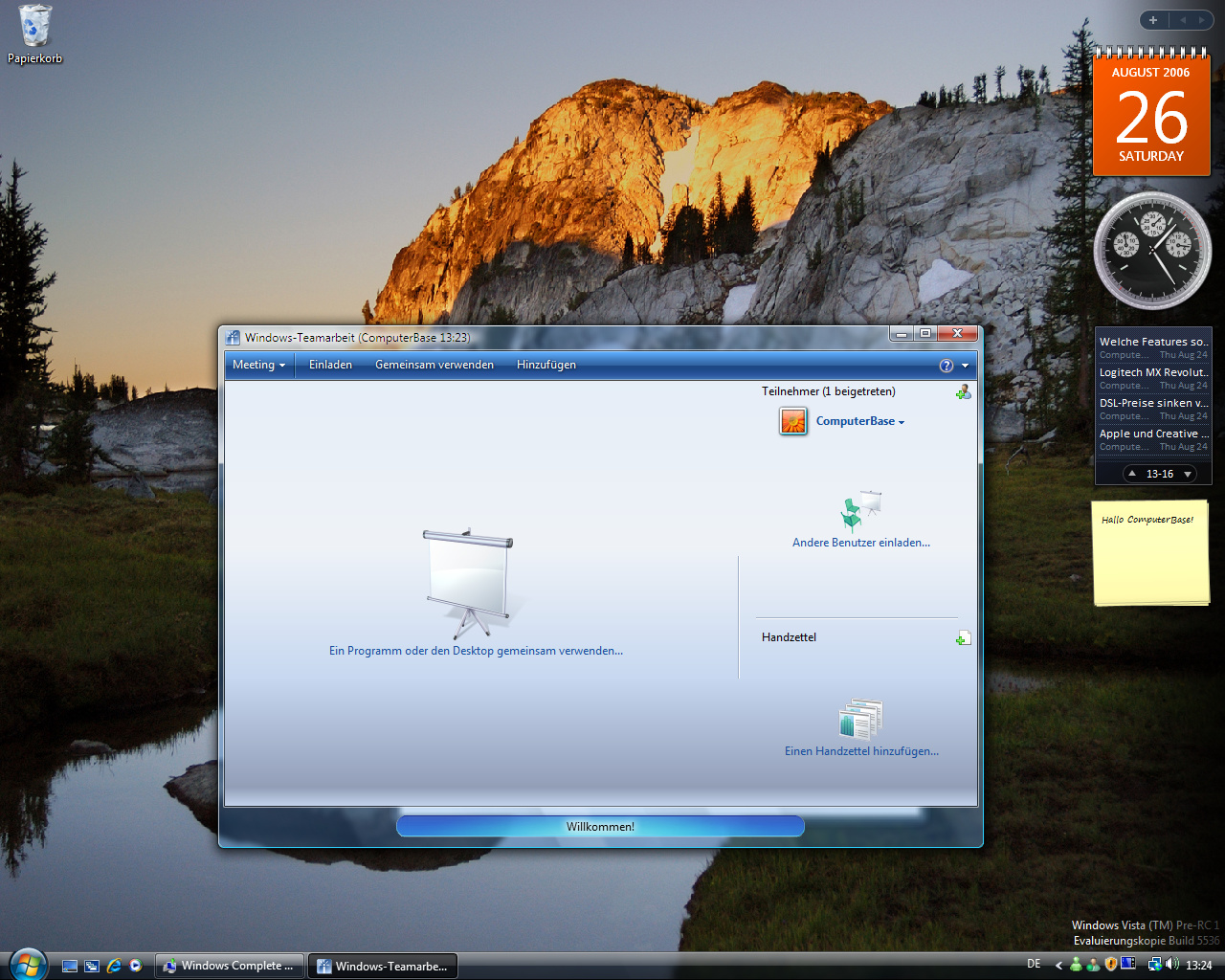 Windows Vista Build 5536 - Teamarbeit 2