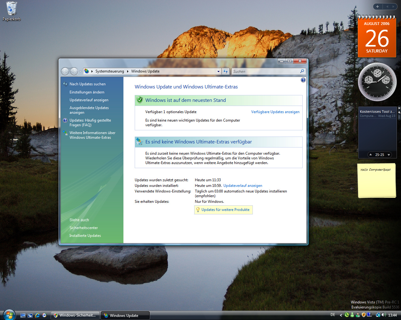 Windows Vista Build 5536 - Update