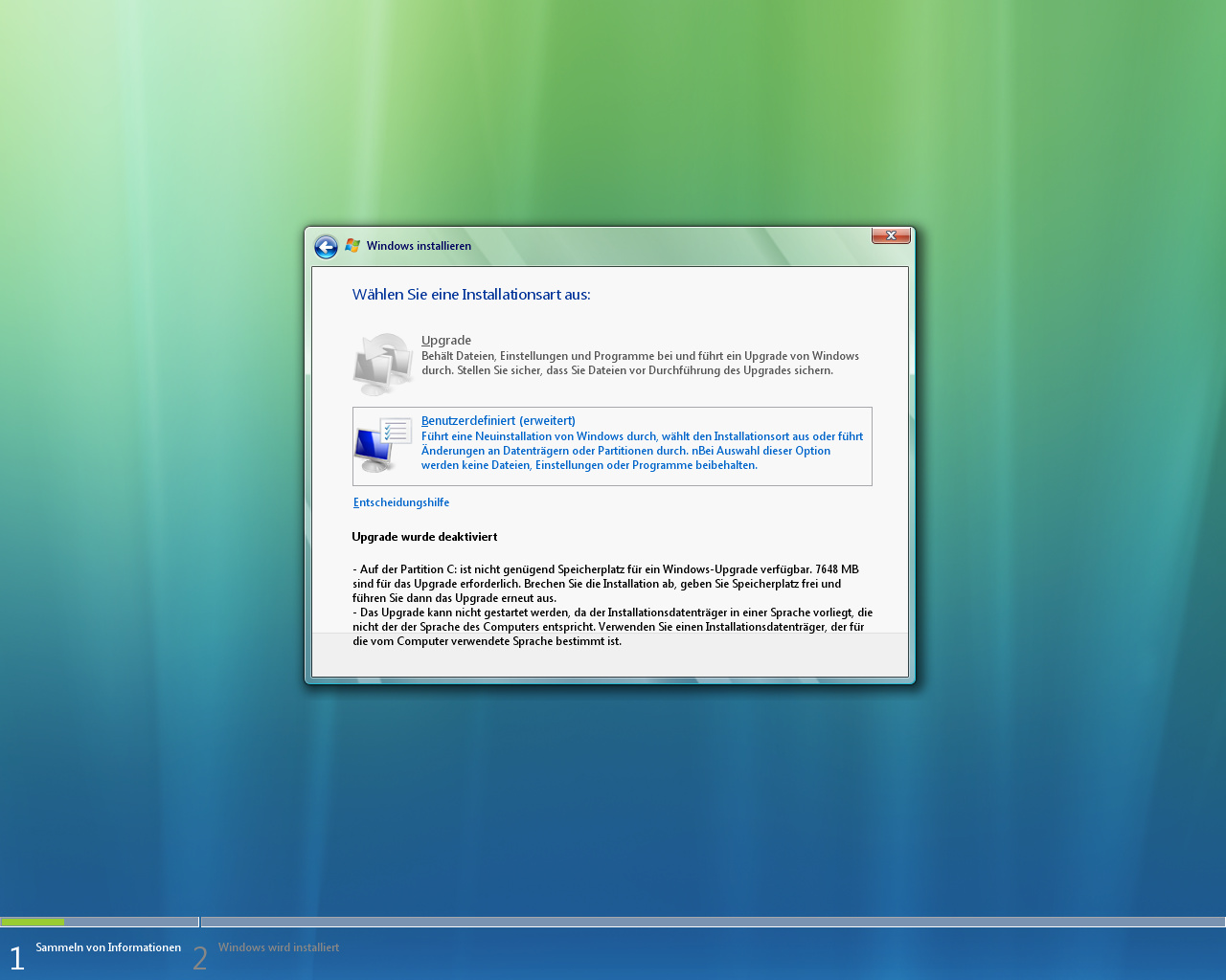 Windows Vista Build 5536 -  Installation