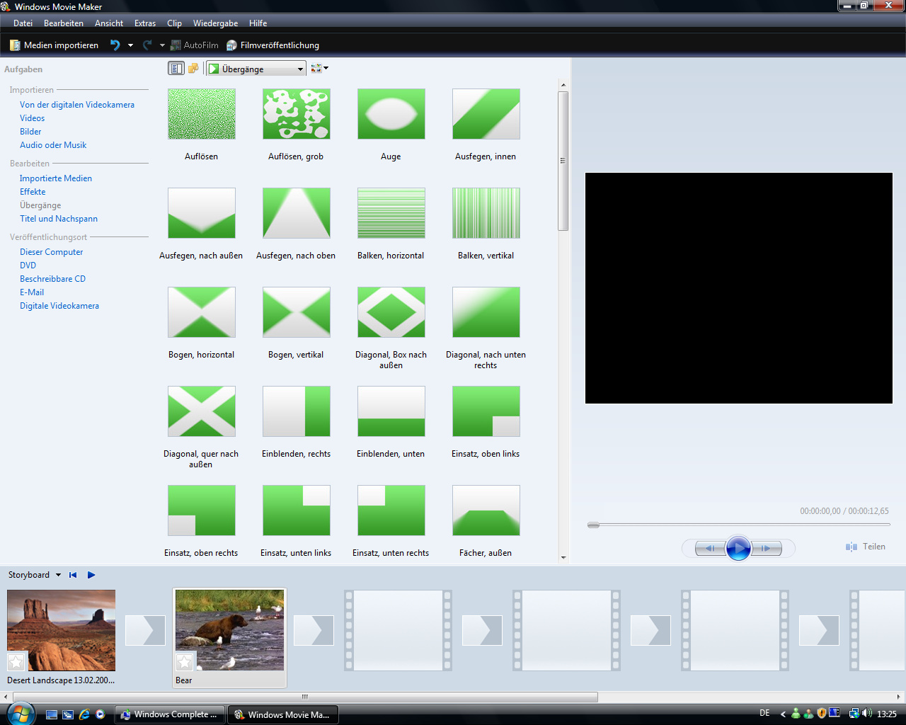 Windows Vista Build 5536 - Movie Maker