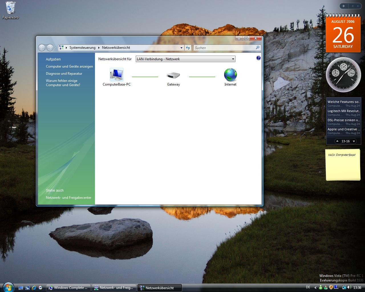 Windows Vista Build 5536 - Netzwerkübersicht