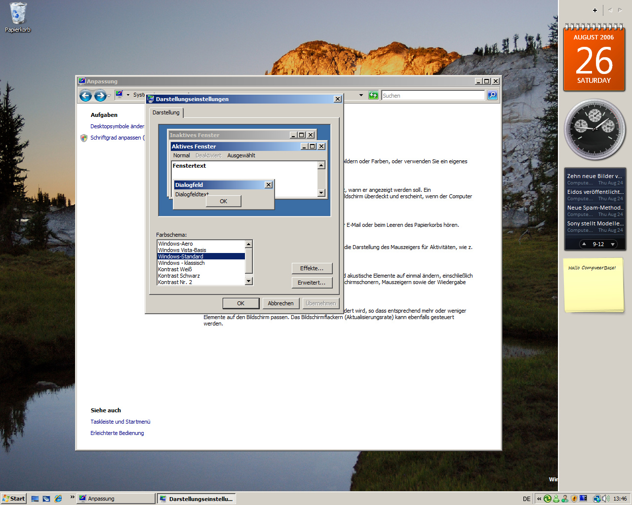 Windows Vista Build 5536 - Skins - Klassik wie bei Windows 2000