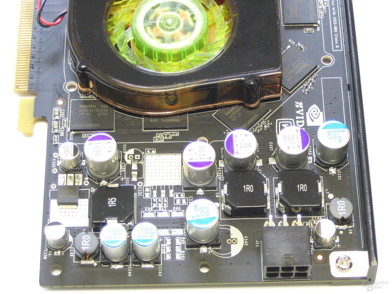 XFX GeForce 7900 GS 480M Spannungswandler