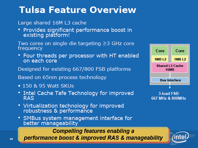 "Features des Intel Xeon 7100 ""Tulsa"""