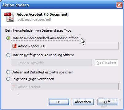 Mozilla Firefox – PDFs außerhalb des Browsers öffnen