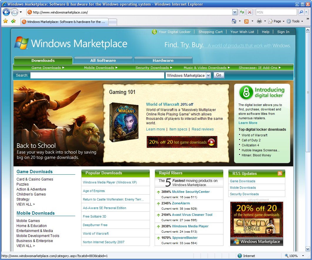 Windows Marktplace