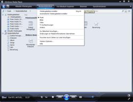 Windows Media Player 11 Beta mit Mediendatenbank für Audio, Video und Photo