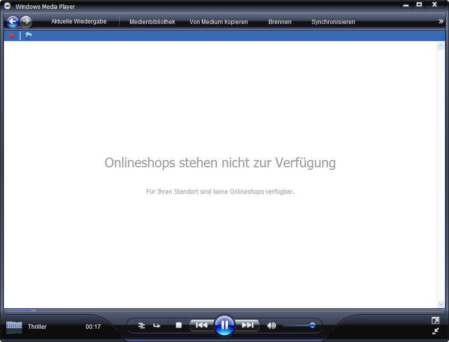 Windows Media Player 11 Beta im Deutschen ohne Onlineshops