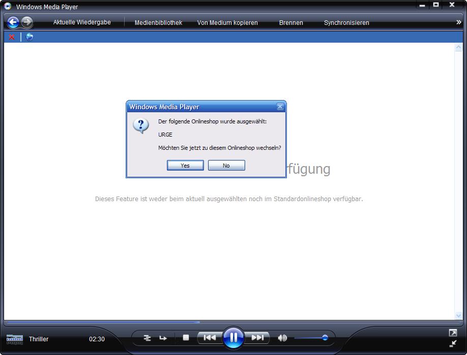 Windows Media Player 11 Beta: URGE von MTV wird getrennt installiert