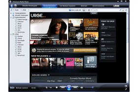 Windows Media Player 11 Beta mit URGE