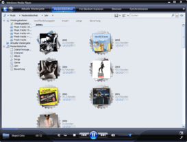 Windows Media Player 11 Beta stellt Musik übersichtlicher dar