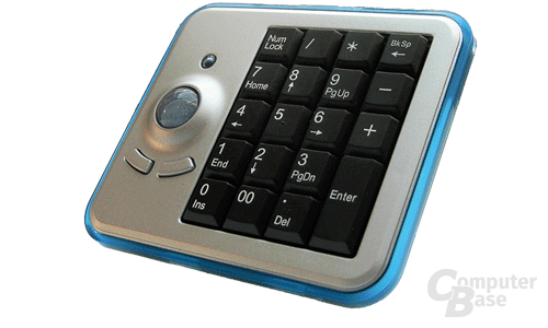 Wireless Optical Trackball Keypad von Perixx