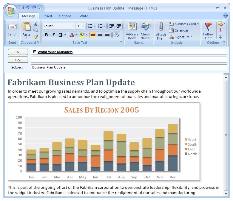 Microsoft Outlook 2007 – E-Mail-Versand