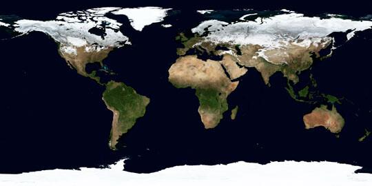 Erde im Januar