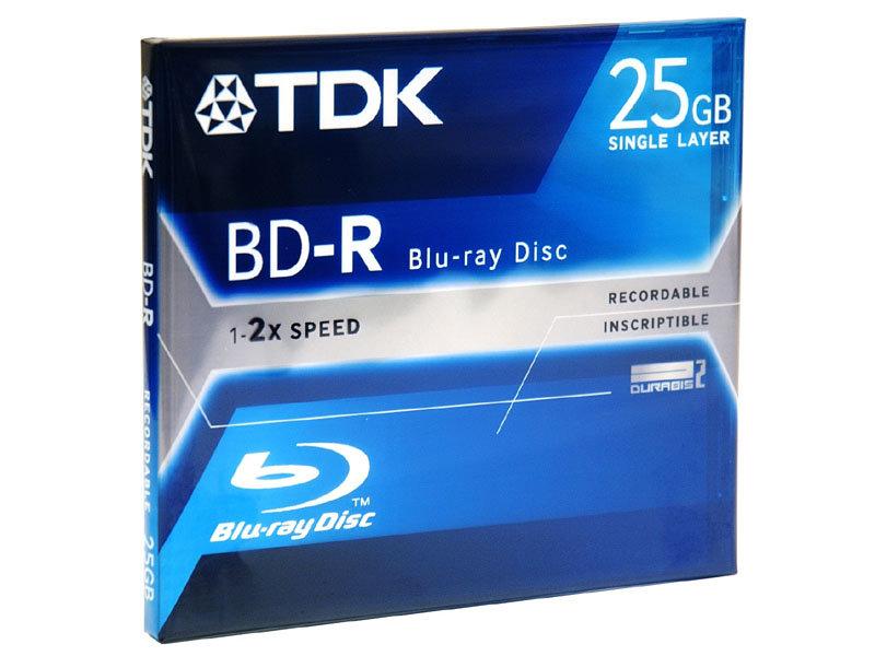25 GB BD-R (einfach beschreibbar) von TDK