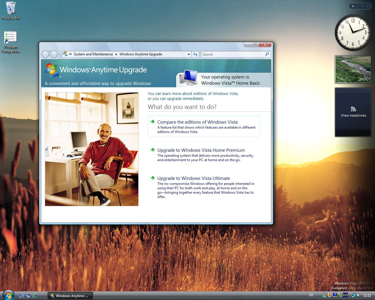 Windows Vista Basic Build 5600 RC1
