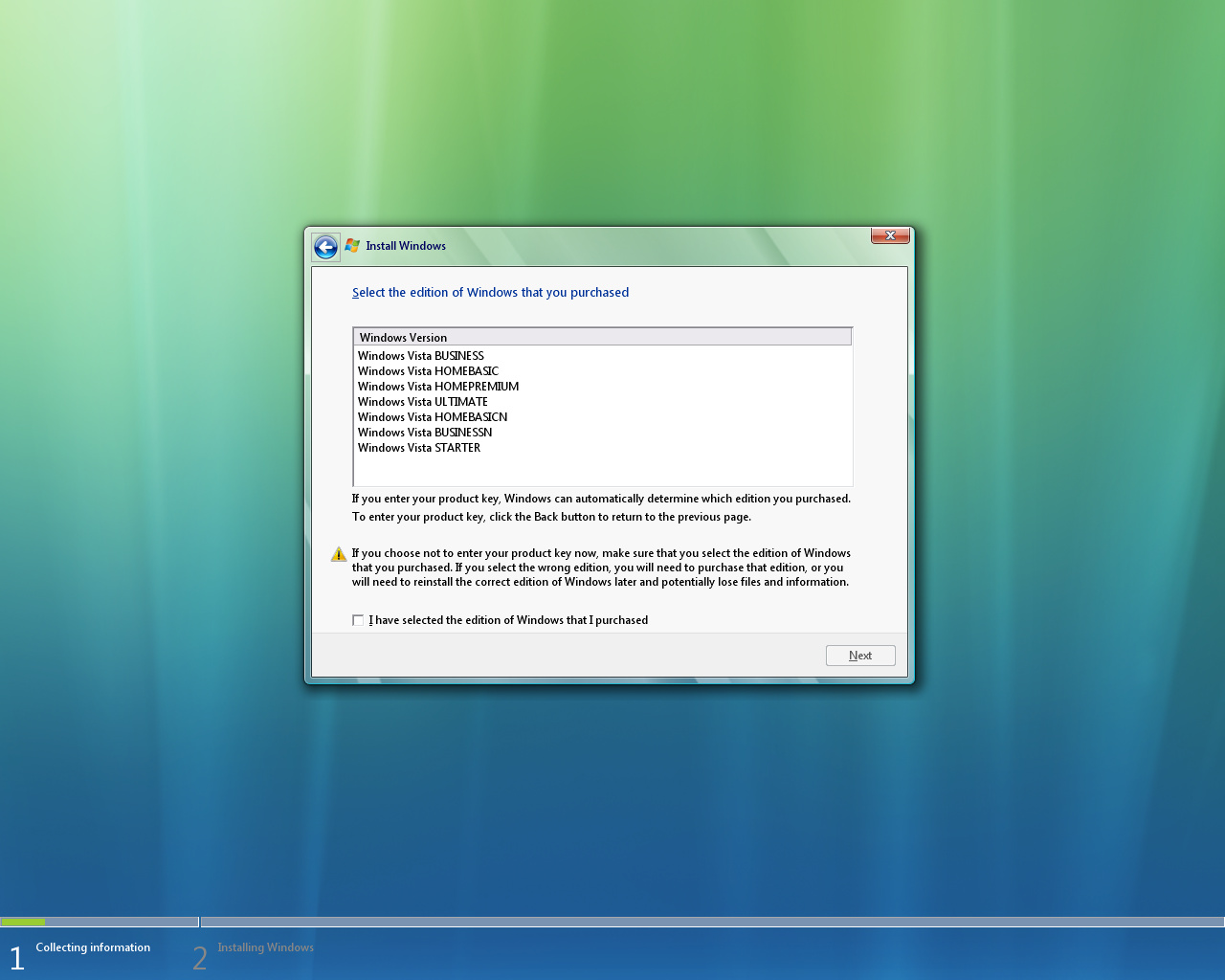 Windows Vista Basic Build 5600 RC1
