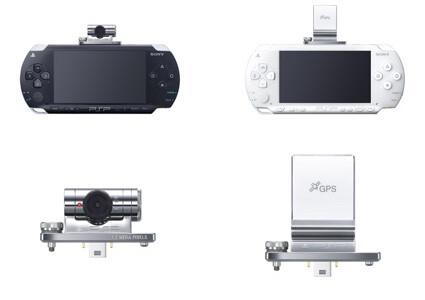 Kamera und GPS-Device für die PSP