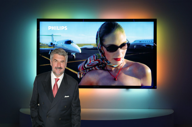 Plasma-TV mit 100 Zoll von Philips