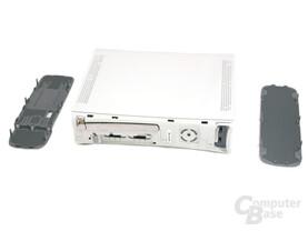 Xbox 360 - Ein Blick ins Innere - ohne Faceplate und seitliche Blenden