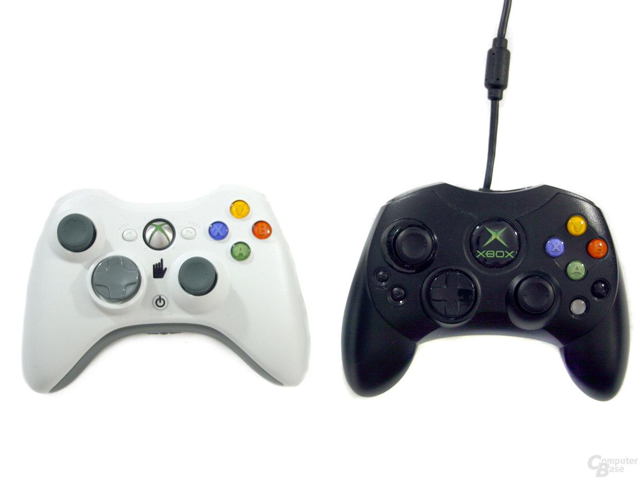Xbox 360 und Xbox Controller im Vergleich