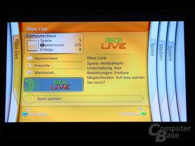 Benutzeroberfläche - Xbox Live Menü