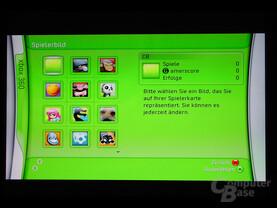 Benutzeroberfläche - Auswahl des Spielerbildes