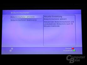 Benutzeroberfläche - Bildschirmschoner