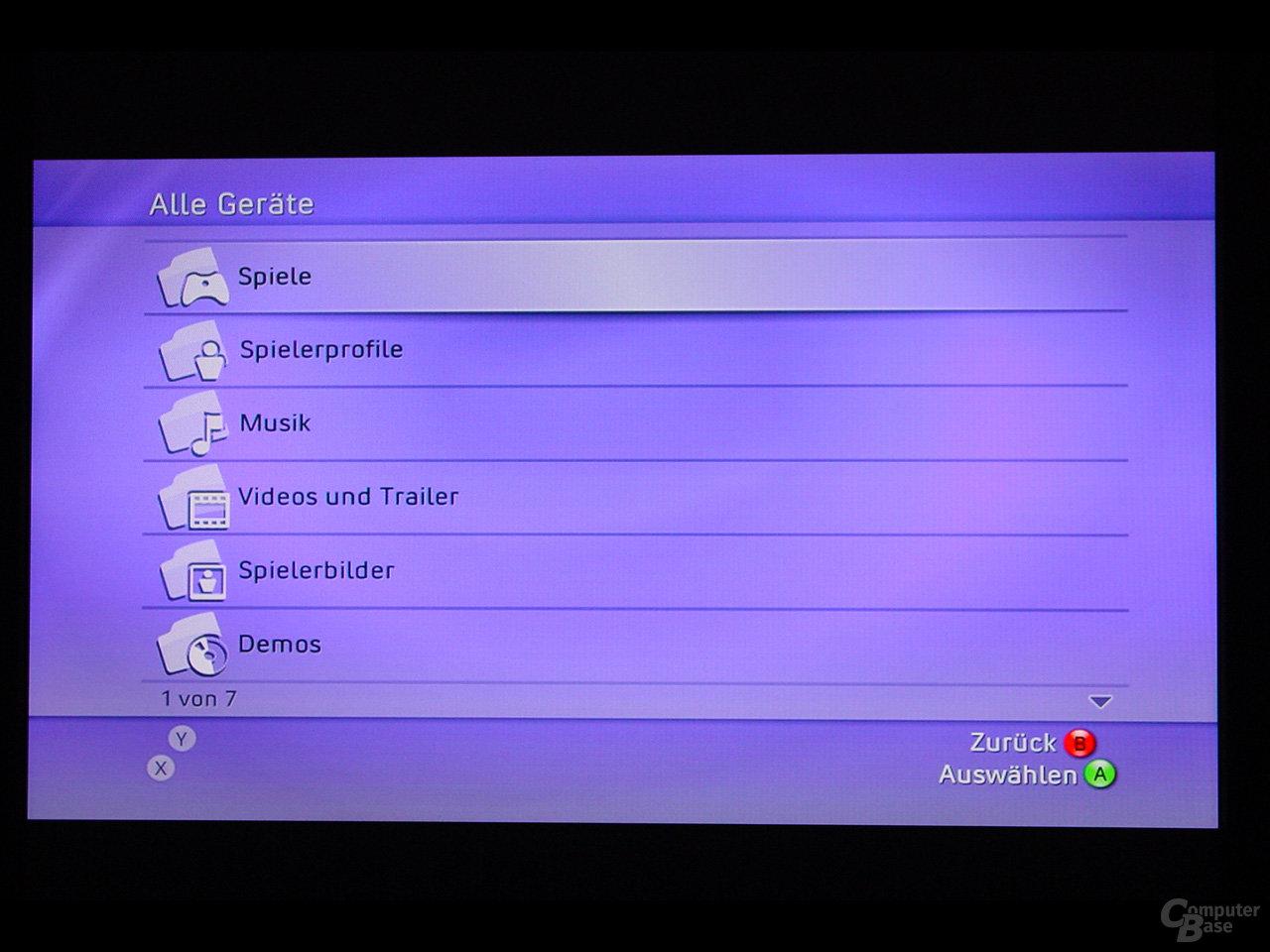 Benutzeroberfläche - Systemverwaltung über die Geräte