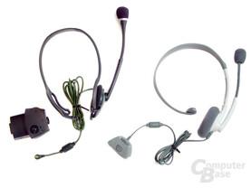Headset der Xbox und Xbox 360 im Vergleich