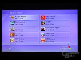 Benutzeroberfläche - Verwalten den Spielerbilder