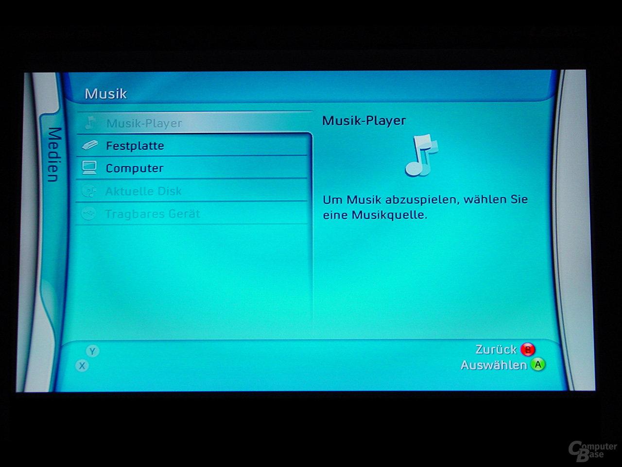 Benutzeroberfläche - Musik