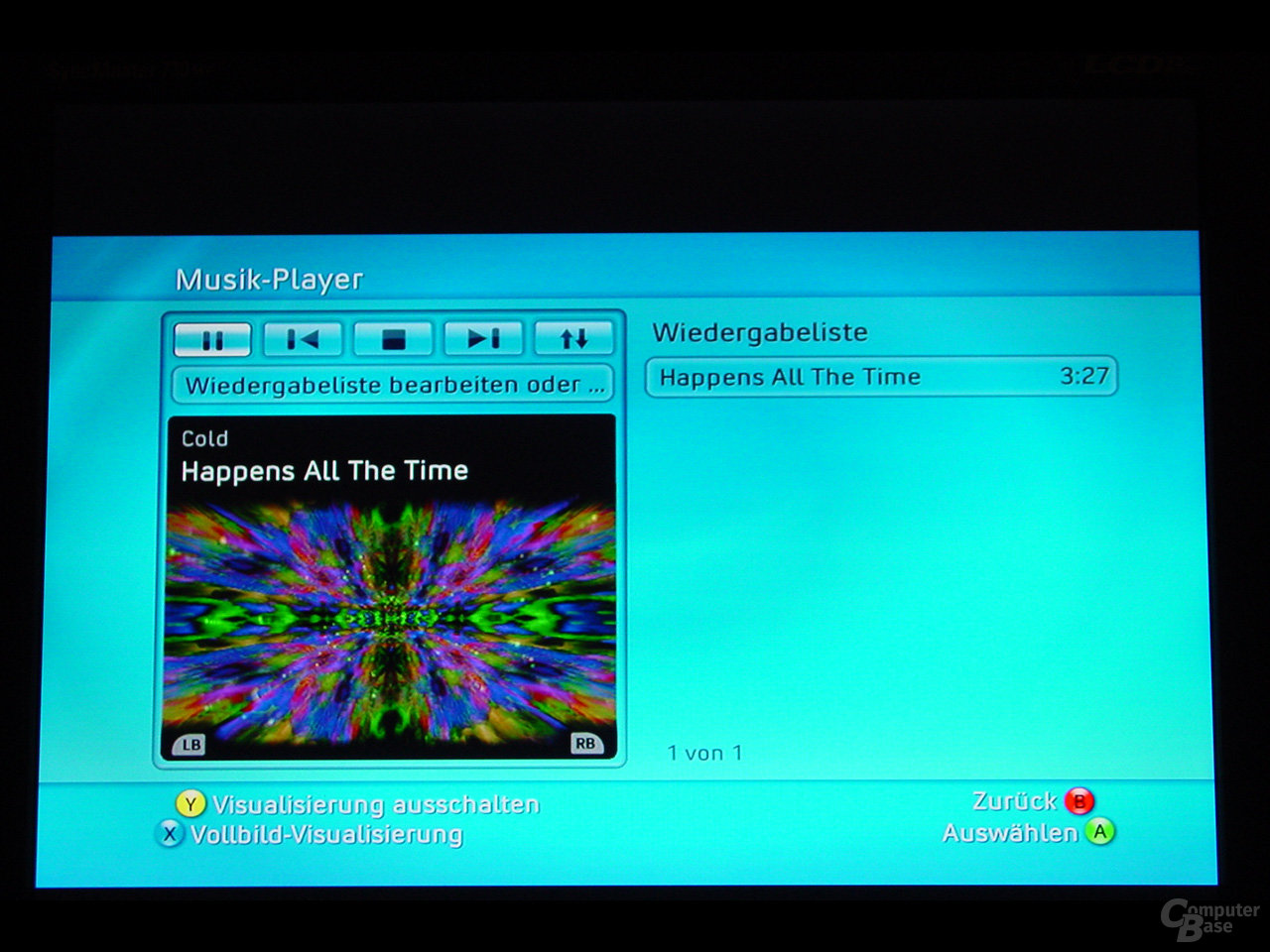 Benutzeroberfläche - Musik-Player