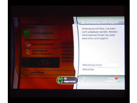 Benutzeroberfläche - Xbox Live Verbindung