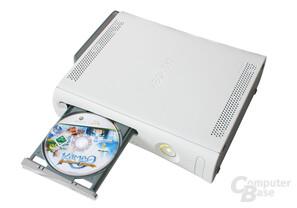 Xbox 360 - Geöffnetes DVD-Laufwerk