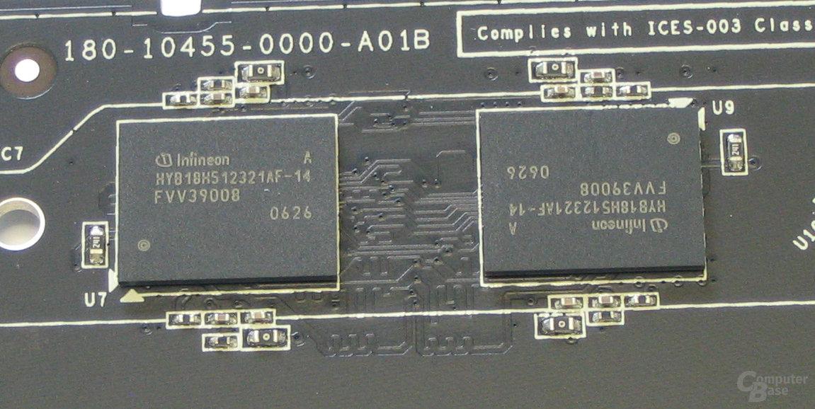 XFX GeForce 7950 GT Speicher