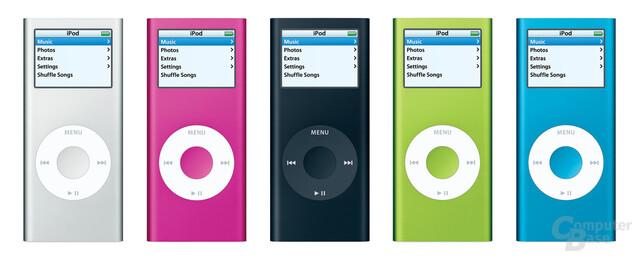Neuer Apple iPod nano aus Aluminium und mit 40 Prozent hellerem Display