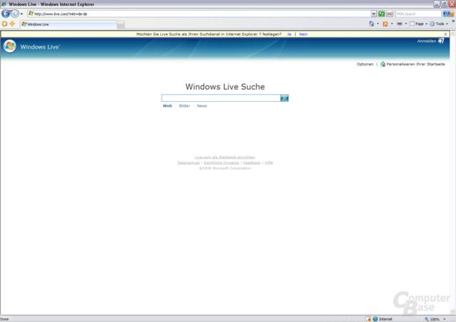 Microsoft Live Suche