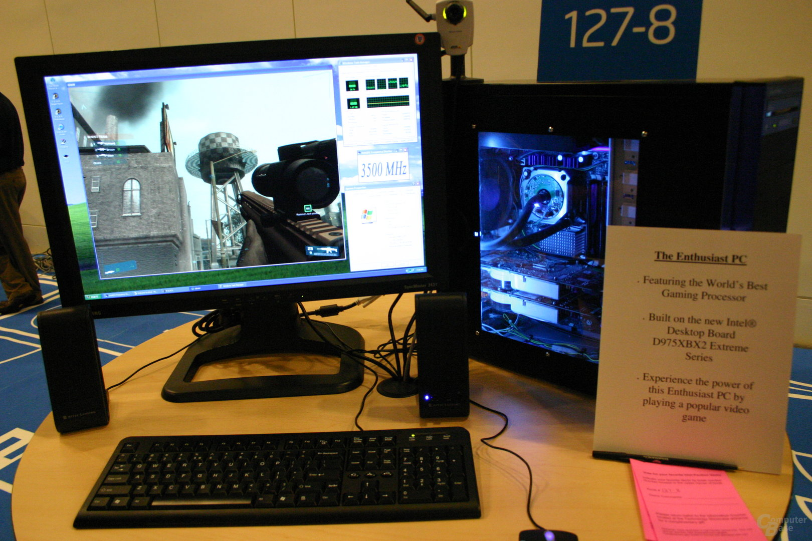 Übertaktetes Demo-System mit Intel D975XBX2