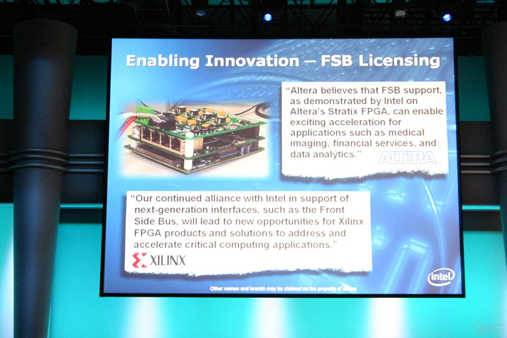 Intel gibt Prozessor-Frontside-Bus für FPGAs