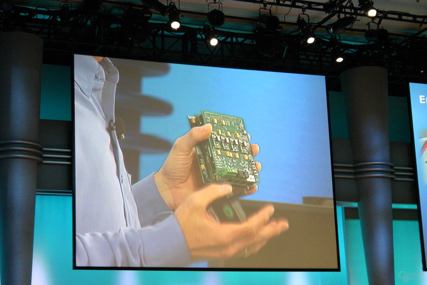FPGA mit vier Gigabit-Ethernet-Schnittstellen für den Prozessorsockel