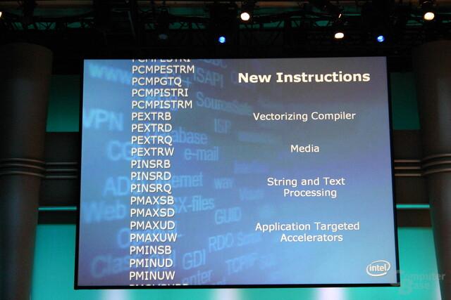 Intel stellt SSE4-Befehle auf seinem Entwicklerforum vor