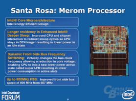 """Intels """"Santa Rosa""""-Plattform – Merom"""