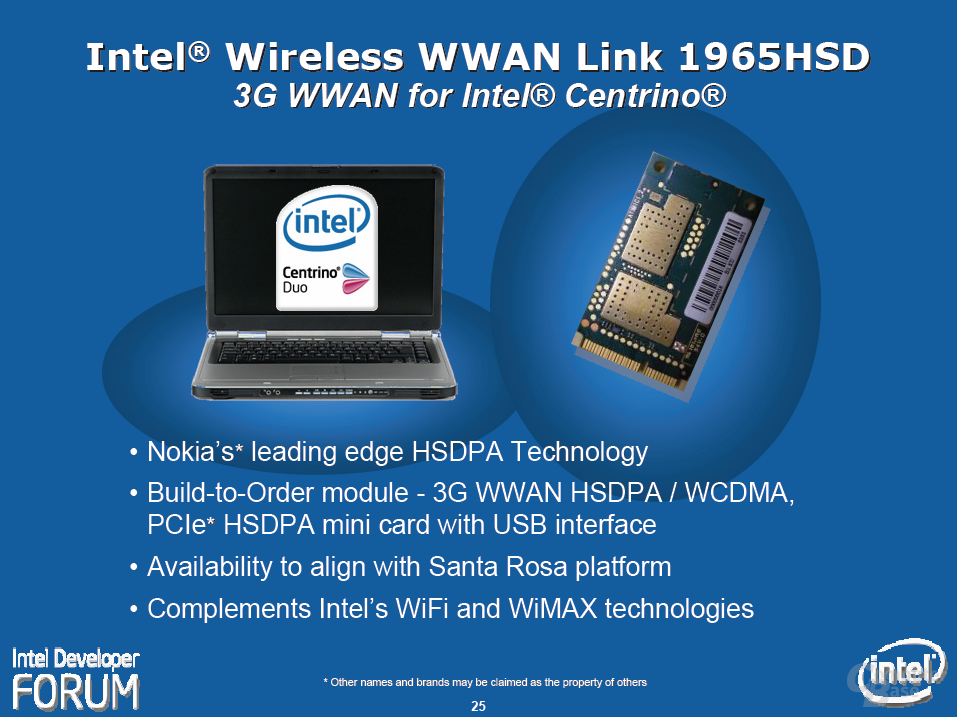 "Intels ""Santa Rosa""-Plattform – Kooperation mit Nokia"