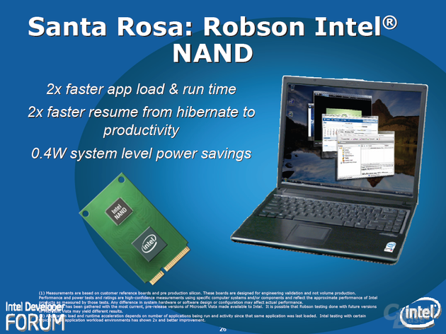 "Intels ""Santa Rosa""-Plattform – Robson Technologie"
