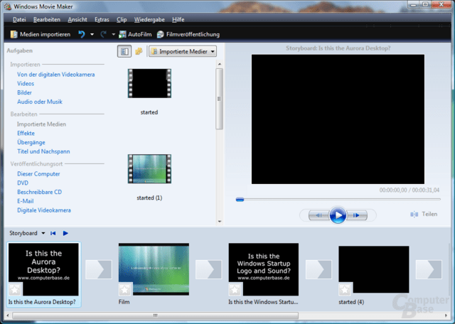 Windows Movie Maker mit GeForce 7800 GT