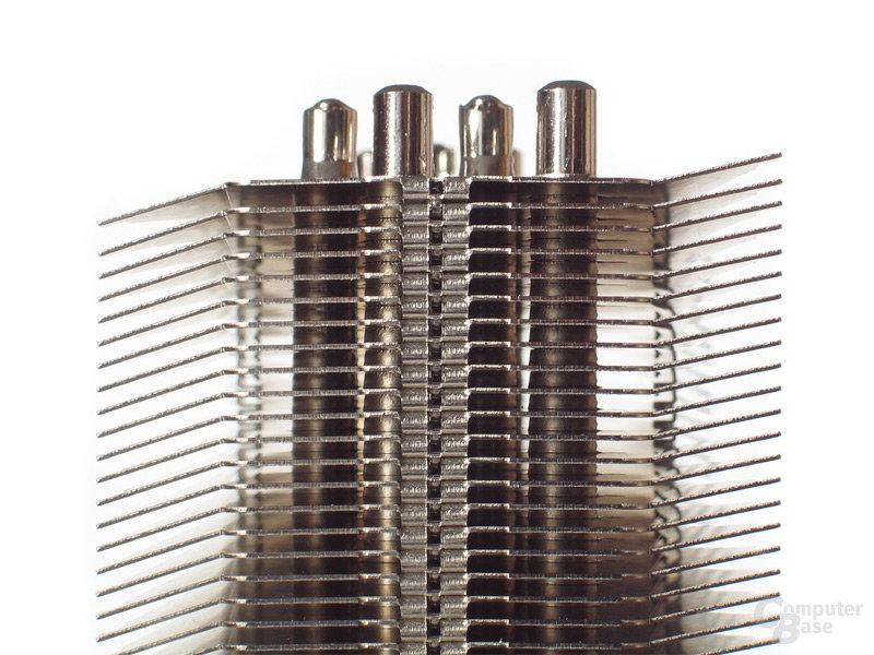 Luftstromführung Dank angepasster Lamellenform