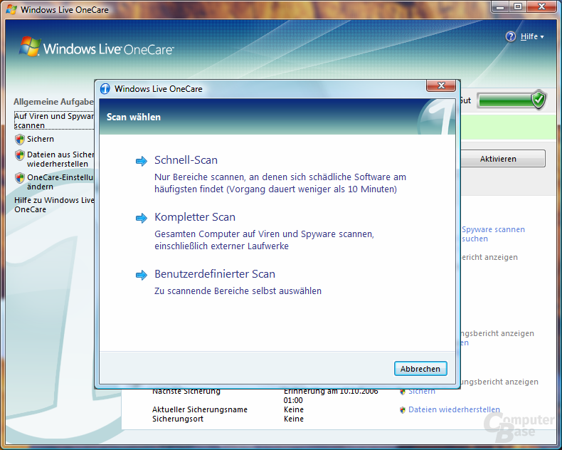 Windows Live OneCare 1.5 Beta