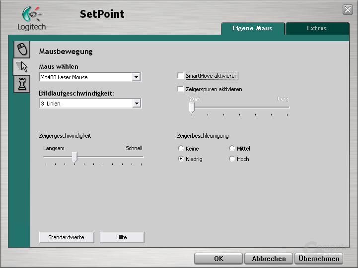 Logitech SetPoint für MX-400
