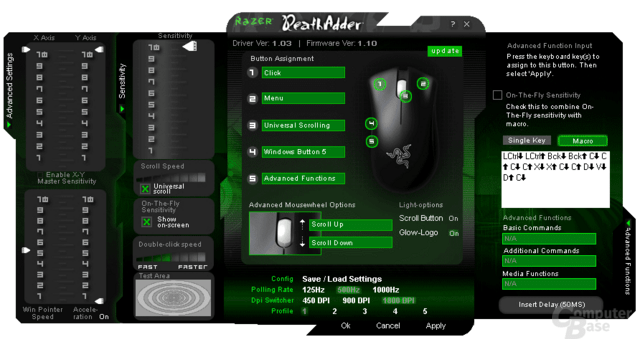 Razer Death Adder Treibersoftware